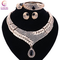 Top Exquisite Dubai Jewelry Set Luxury Gold Color Big Nigerian Wedding African Beads Jewelry Set Costume