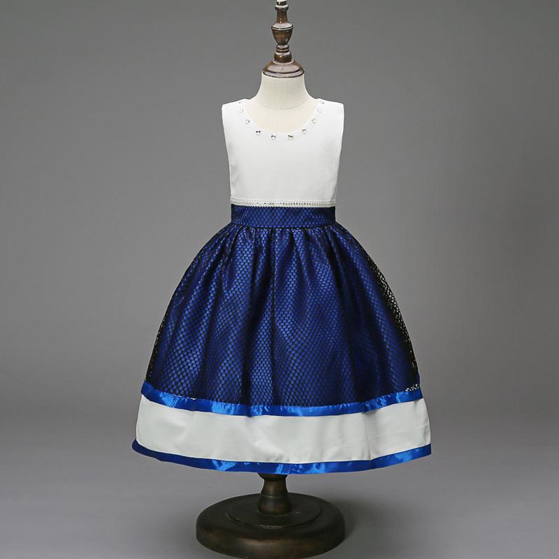5be43ecb2e XABH Cute Princess Style Girl Dress Sleeveless Teenagers Clothing Long  Dress Wedding Party Costumes Flower Girl