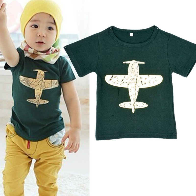 Children-BabyKids-Boys-T-Shirt-Short-Sleeved-Plane-Tees-Cotton-Tops-Cartoon-Clothing-2