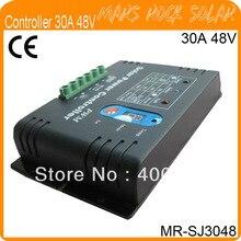 30A 48 В ШИМ Солнечная Система Контроллер Заряда со СВЕТОДИОДНЫМ Дисплеем, металлический Корпус, температура Компенсации