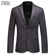 MOGU Casual Solid Men's Jacket 2017 Autumn New Fashion Pure Color Wool Men Blazer Slim Fit Men's Blazer Asian Size 3XL Men Suit(China)