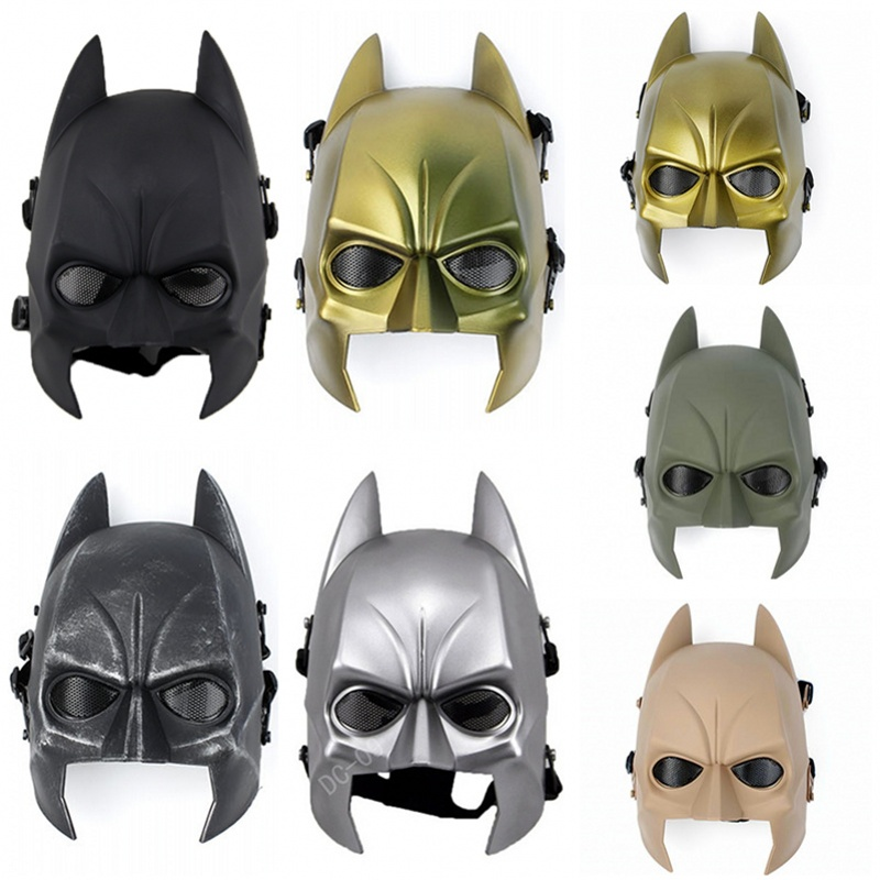 DC09 Batman Half Face Airsoft Tactical Mask Paintball CS Wargame Military Halloween Protective Mask