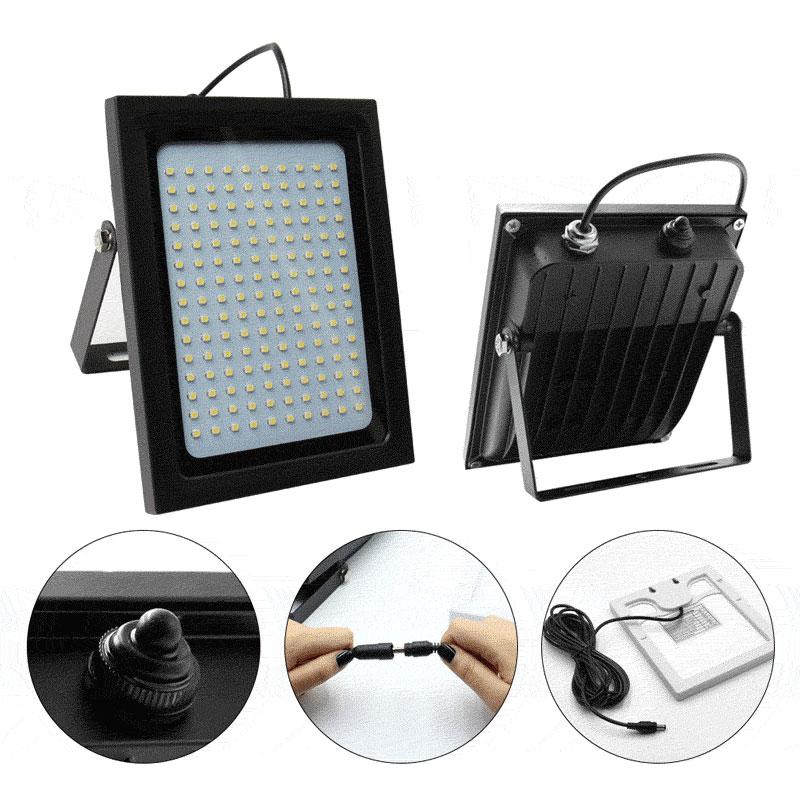 LED Solar Powered Motion Sensor Light Security Flood  Outdoor Garden Path Lamp