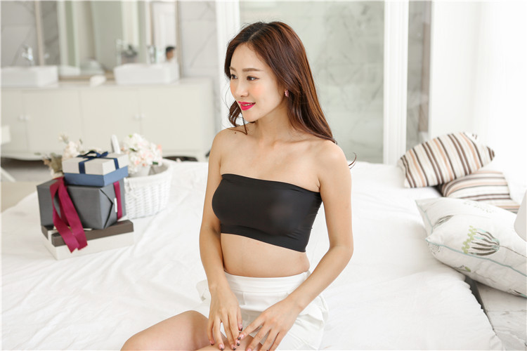 8f422c511db ... New Girls Solid Traceless Tube Top Women's Sexy Strapless Crop Top Bra  Bandeau Boob Tube Tops Lace Casual Crop Boob. 11% Off. 🔍 Previous. Next