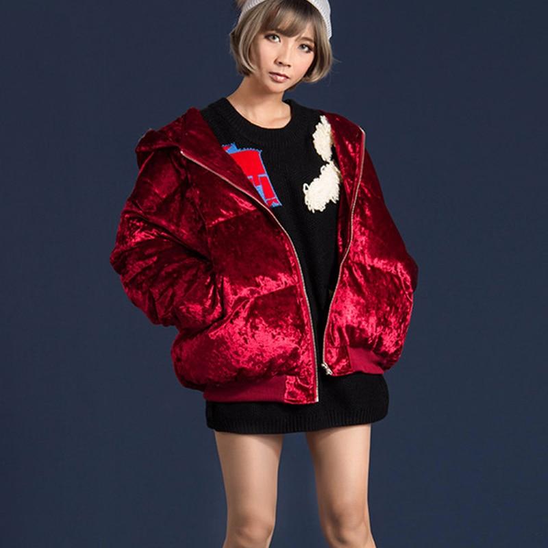 À Plus Épais Femelle Lâche Capuchon D'hiver Mode Parkas Manteaux Color Z273 Coton Velours De red Broderie Lettre Dames Veste Taille La Casual Ouatée Picture warqwxE5