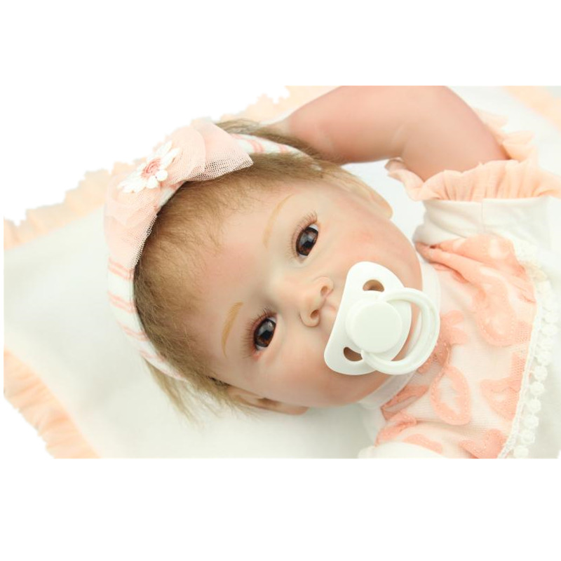 22 Inch 55CM Cute Silicone Reborn Babies Dolls Reborn Realistic Hobbies Handmade Baby Alive Doll For Girls Safe Classic Juguetes