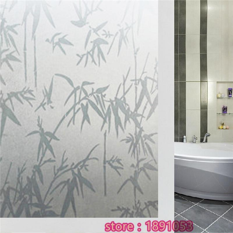 45 x200cm opaque film to the glass bamboo waterproof bedroom bathroom window privacy glass sliding door