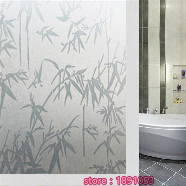 45x200 cm Opaque film het glas bamboe waterdicht slaapkamer badkamer ...