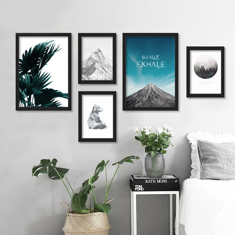 posters and prints wall art canvas painting cuadros beach pictures forest wall pictures for living room nordic no poster frame