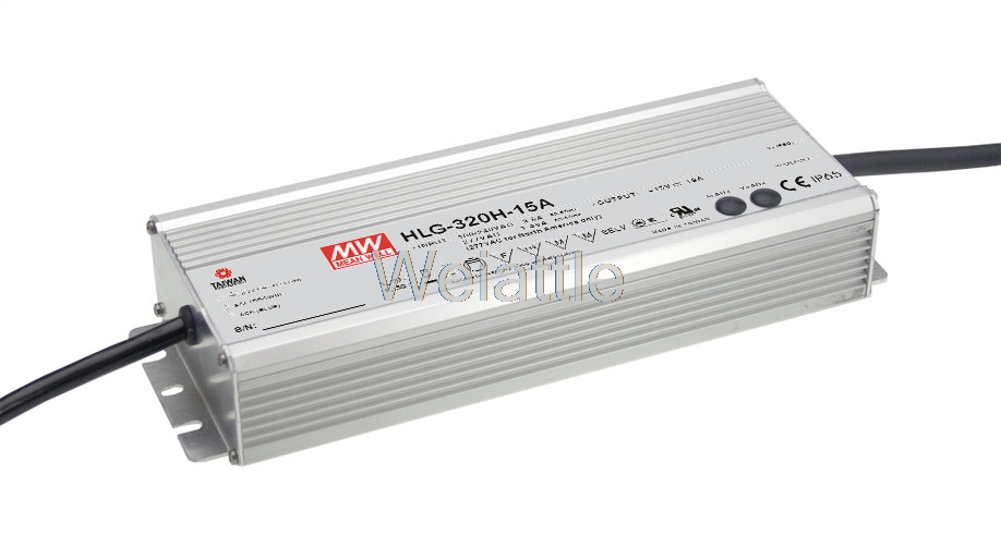 MEAN WELL original HLG-320H-15D 15V 19A meanwell HLG-320H 15V 285W Single Output LED Driver Power Supply D type