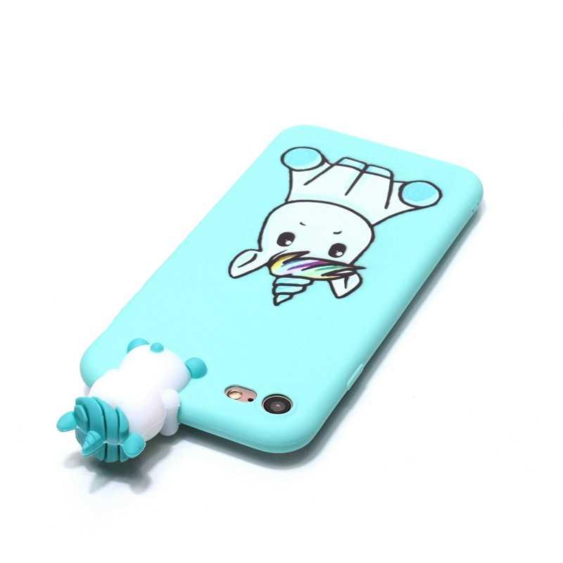 Чехол для iPhone 8 iPhone 5 5S se чехол 3D Единорог Мягкий чехол для iPhone X 7 Plus i phone 6 6s apple чехол telefoon hoesje