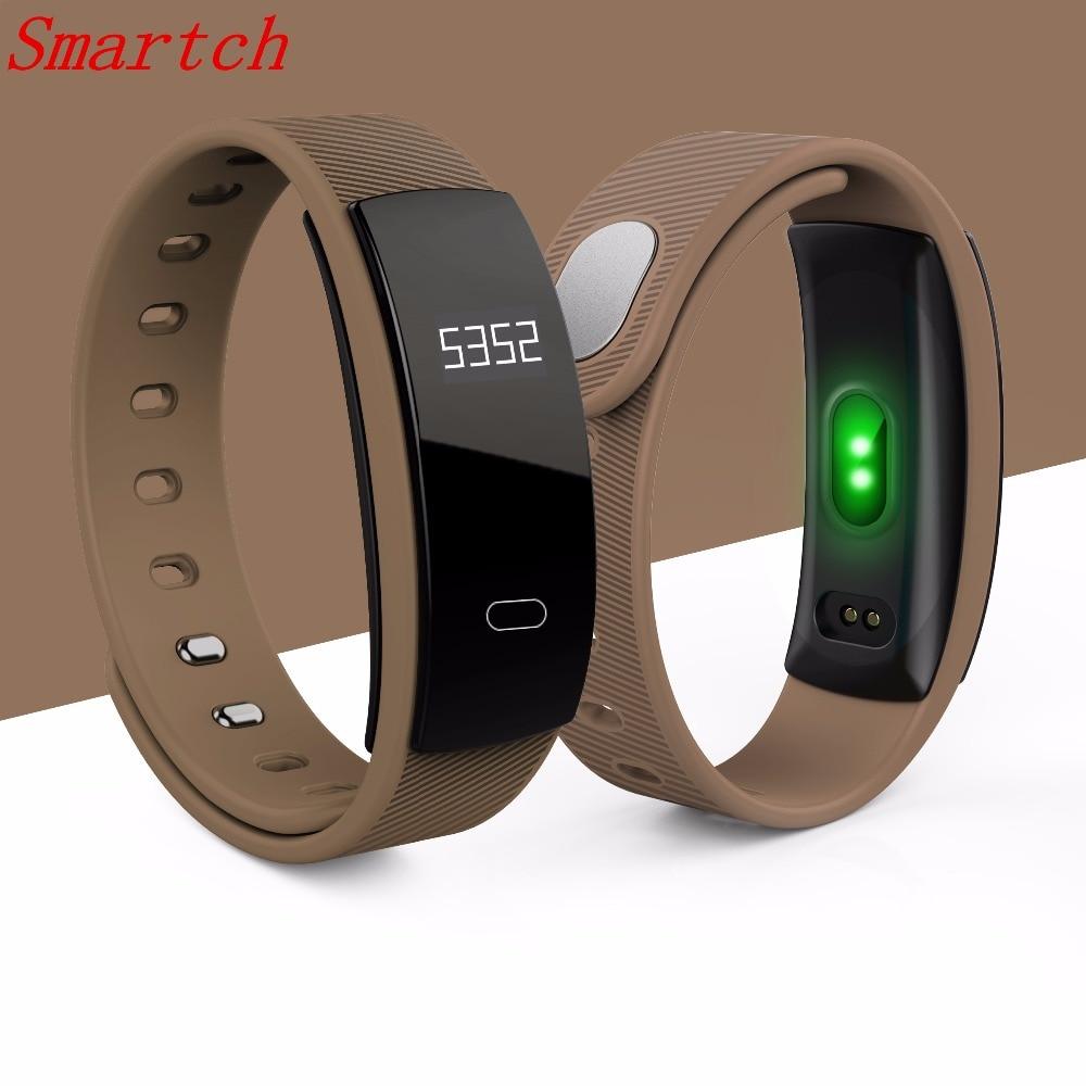 Smartch QS80 Smart Wristband Blood Pressure Bracelet Heart Rate Fitness Sleep Measure IP67 Waterproof Call Tracker for Moblie Ph