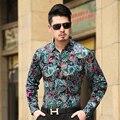 Outono Camisa de Manga Longa Business Casual Masculino de Veludo dos homens Marca Formal de Homens Vestido de Camisas Para Homem Magro Camisa Masculina
