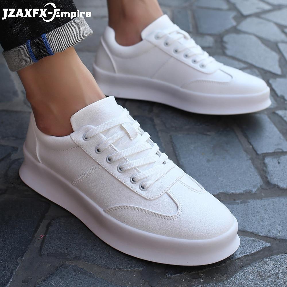 New Arrival Men White Flat Shoes Lace