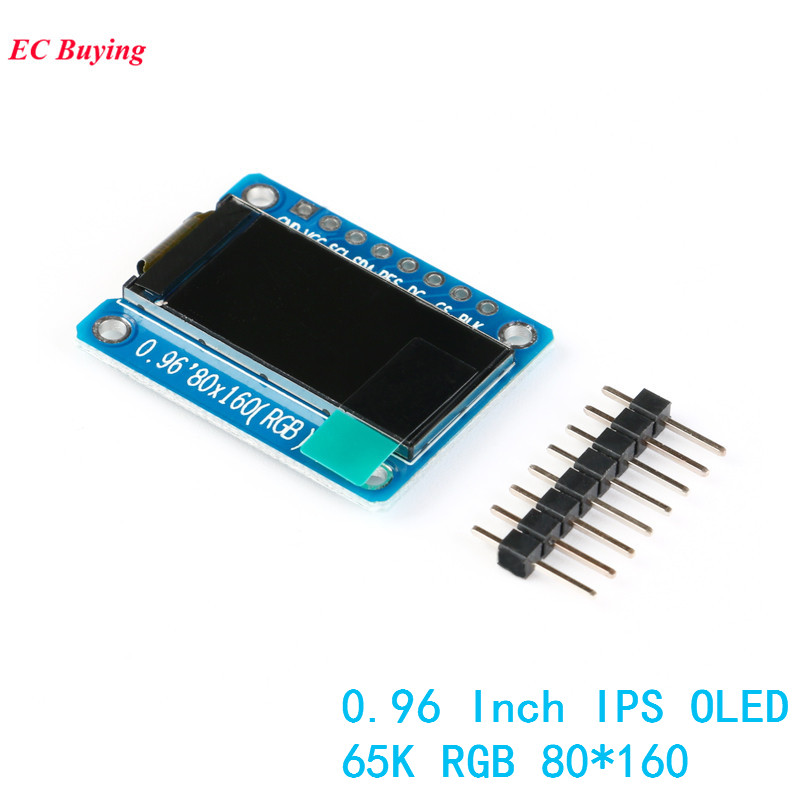 0.96 Inch IPS Display OLED Module For Arduino 80*160 65K Colorful RGB TFT LCD Board ST7735 ST7735 DIY