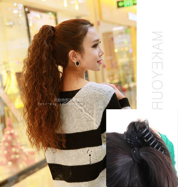 Ponytail claw clip ponytails curly hair extension clip in long on ponytail claw clip ponytails curly hair extension clip in long on clip hair piece corn very pmusecretfo Choice Image