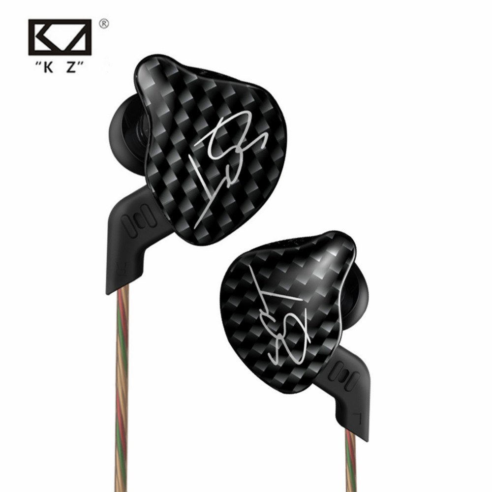 KZ ZST L Bending In Ear Earphone Hybrid Drive HIFI Running Sport Earphones Earplug Earphone With Mic/Without Mic original senfer dt2 ie800 dynamic with 2ba hybrid drive in ear earphone ceramic hifi earphone earbuds with mmcx interface