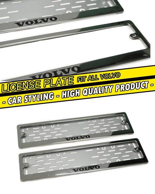 2 pcs / set Chrome License Plate Frame case for Nissan Stainless ...