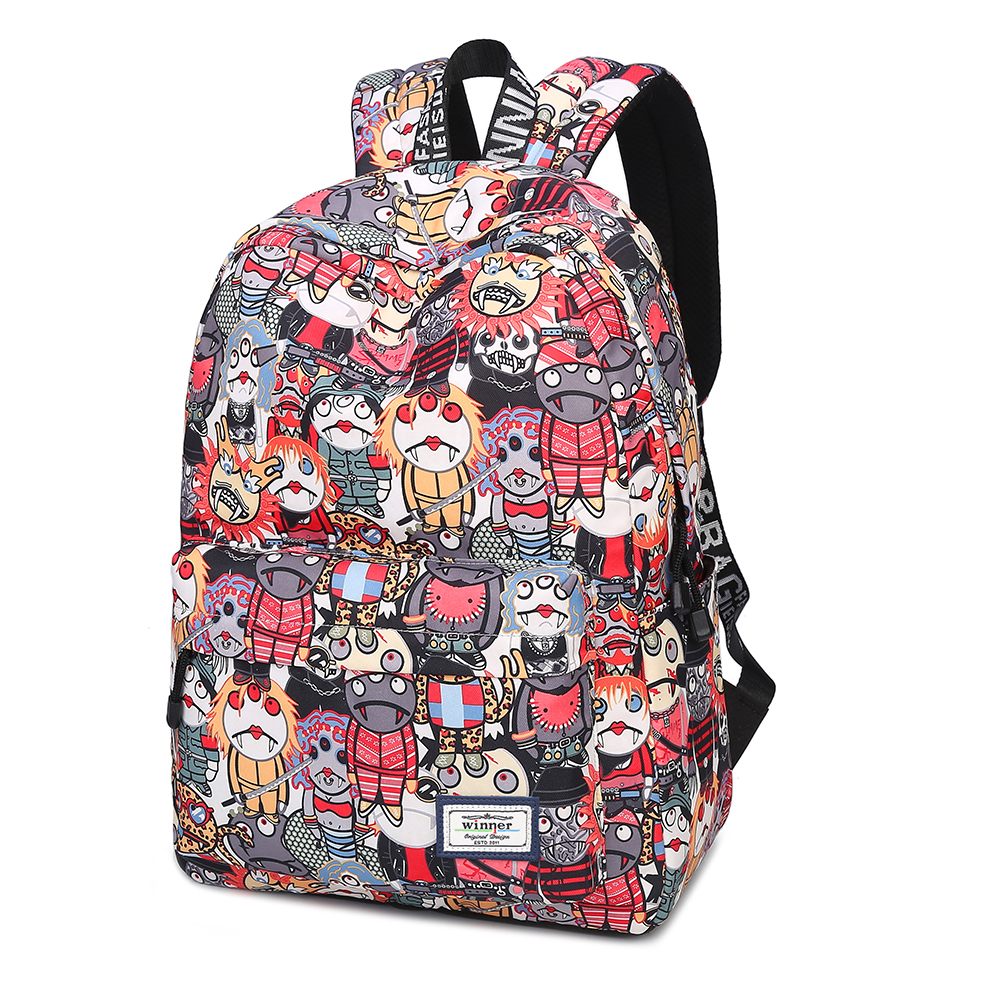 Brand Printing Women scrawl Graffiti Backpack Canvas Bookbag Fashion Women Travel Backpack School Bag for Teenage Girls RucksackBrand Printing Women scrawl Graffiti Backpack Canvas Bookbag Fashion Women Travel Backpack School Bag for Teenage Girls Rucksack