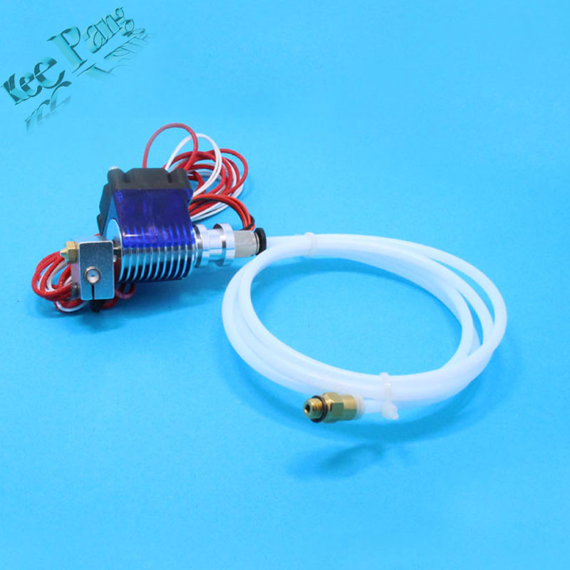 3D printer V6 remote print head extruder with cable tube and cooling fan Bracket J HEAD