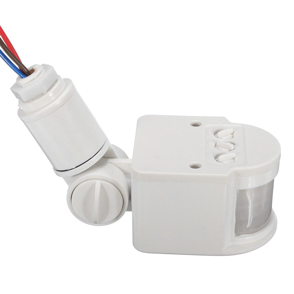 Safurance Открытый 12 м безопасности инфракрасный PIR движения Сенсор детектор стены Светодиодные РФ 180 градусов безопасности дома