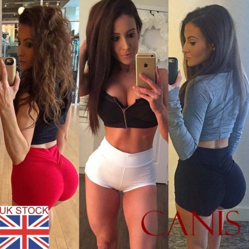 Women Sports Red White Black Solid Simple Shorts Casual Ladies Beach Summer Running Gym Yoga Hot Pants