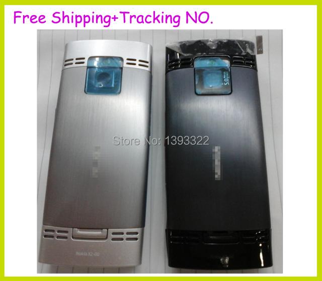 Original nova habitação para Nokia X2 X2-00 X2 00 caixa da porta da bateria + botão lateral + placa chave + câmera lente de vidro