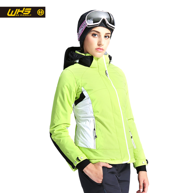 WHS Новая женская Лыжная куртка зимняя уличная теплая зимняя куртка пальто Женская непромокаемая зимняя куртка женская дышащая спортивная одежда