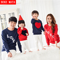 BEKE MATA Family Matching Outfits Winter 2016 Fashion LOVE Matching Mother Daughter Clothes Family Look Father Son Clothing