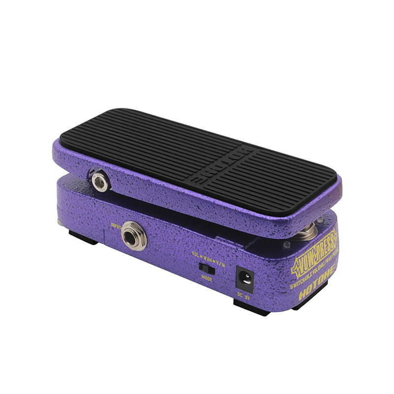 Hotone Vow Press Combo Switchable Volume /Wah Pedal + Free Power Adapter & Patch Cable hotone soul press volume expression wah wah guitar pedal cry baby sound
