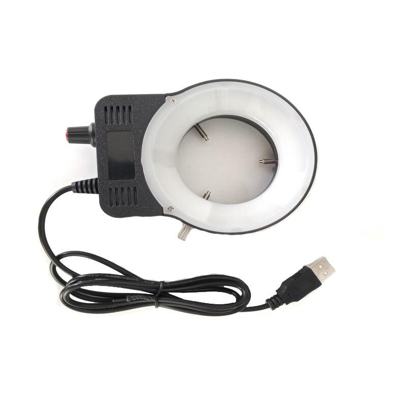Adjustable 48pcs Led Ring Light Illuminator Lamp ForMicroscope Industrial Camera Magnifier Trinocular /binocular Microscope