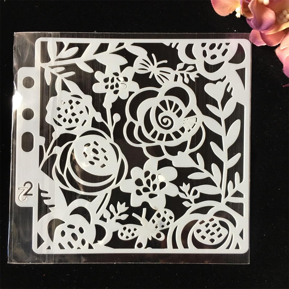 1Pcs Bee Flower DIY Layering Stencils Wall Painting Scrapbook Coloring Embossing Album Decorative Paper Card Template