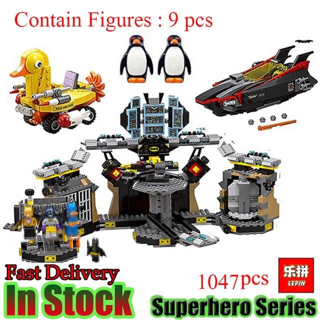 Compatible con Lego batman 70909 07052 superhéroes bloques de película baticueva juguetes para niños bloques de construcción 8 en 1 695 piezas águila fuerzas SWAT camión helicóptero vehículo bloques de construcción niños juguetes para niños Legoings compatibles la policía