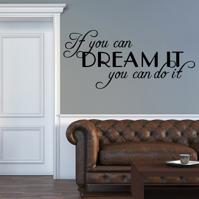 Motivating Sentence Quote Wall Decals Wall Sticker For Bedroom Living Room Decoration vinyl Removable Stickers Mural Wall Decor