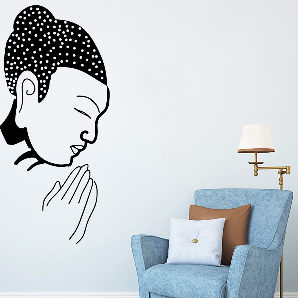 Colorful Buddha Wallstickers Vinyl Art Decoration Chambre For Baby Kids Rooms Decor Vinilo Pared