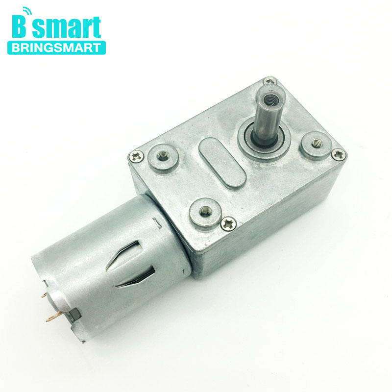 DC 24V 5-150RPM Large Torsion Worm Gear Motor Micro Type DC Speed Reduction Motor DC Power Speed Reduction Motor Full Metal Gearbox for Multiple Purposes 100RPM