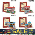 PROMOTION! Educational 3D Model Puzzle Children Kids DIY Toy Western Turkey Style House building learning & education classic