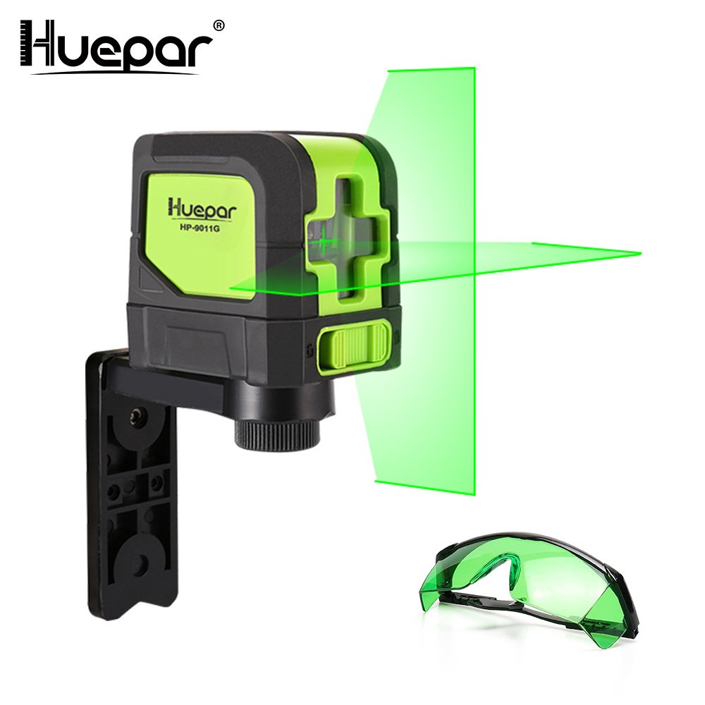 Huepar Green Cross Line Laser Self Leveling Laser Level Vertical Horizontal Laser Green Adjustable Laser Enhancement