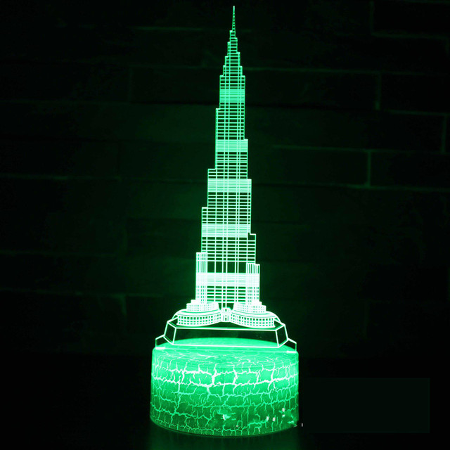Building Paris Tower Series 3d Small Led Night Light Christmas decorations gift for baby room lights wholesale