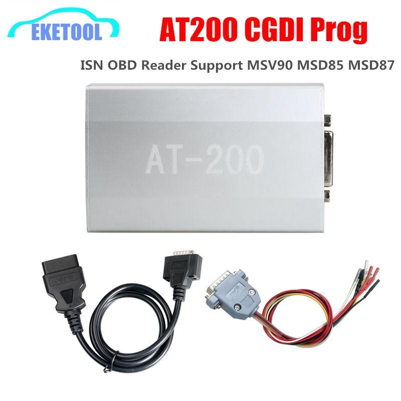 Mais novo AT200 ECU Programador Leitor OBD Funciona ISN CGDI Prog Para BMW Programador Chave Auto AT-200 Apoio MSV90 MSD85 MSD87 EM 200