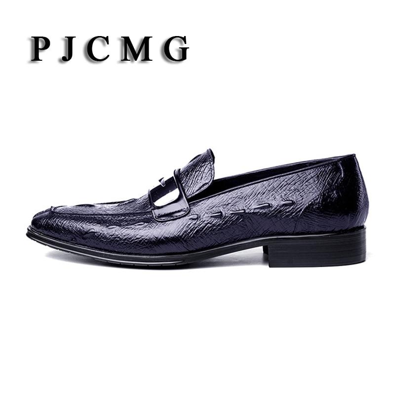 Slip Apontado Marca Qualidade Crocodile on Genuíno De brown Pjcmg Black Alta Para Moda Pattern Couro Homens Respirável Glitter Dedo blue Sapatos Oxford 7wxOYwdq