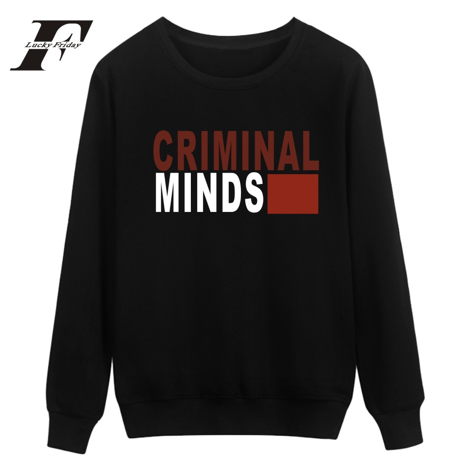 LUCKYFRIDAYF Criminal Minds printed hoodie Sweatshirt women Mens Hoodies And Sweatshirts Hip Hop moletom feminino survetement