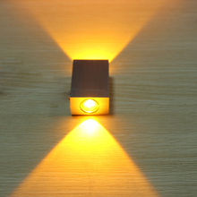 2W Aluminum Square Led Wall Lamp AC85-265V COB High Power Led Modern Home Lighting Indoor and Outdoor Decoration Light