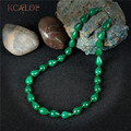 KCALOE Woman Chocker Necklace Dark Green Semi-Precious Stones Natural Jade Stone Necklaces For Women Vintage Accessories