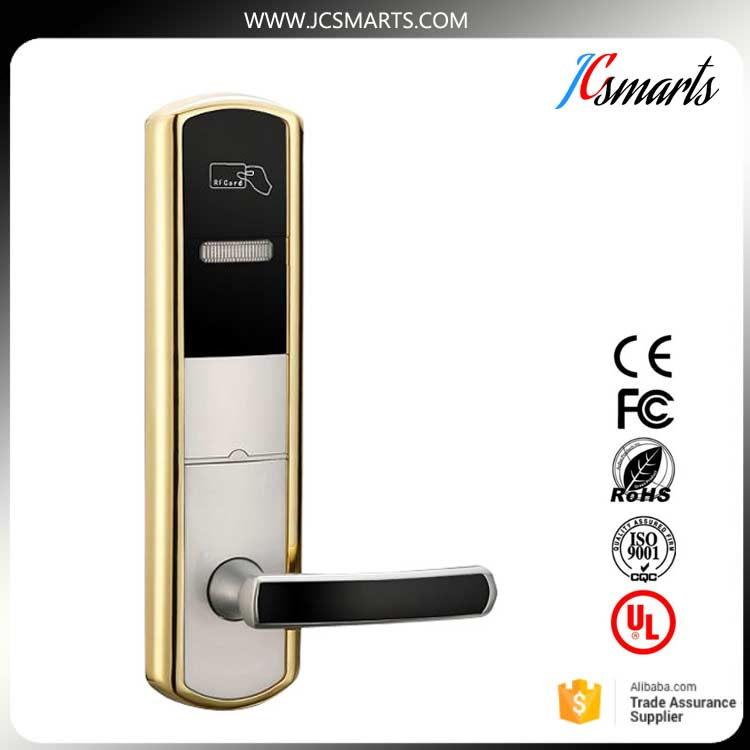 New Style Electronic Card Reader Keyless Smart RFID Key Card Hotel Door lock digital electric best rfid hotel electronic door lock for flat apartment