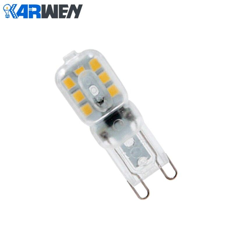 KARWEN 10 шт./лот мини светодиодная лампа G9 3 Вт высокая яркость лампада LED 220 В SMD2835 Bombillas Светодиодная лампа 360 градусов Ampoule Luz