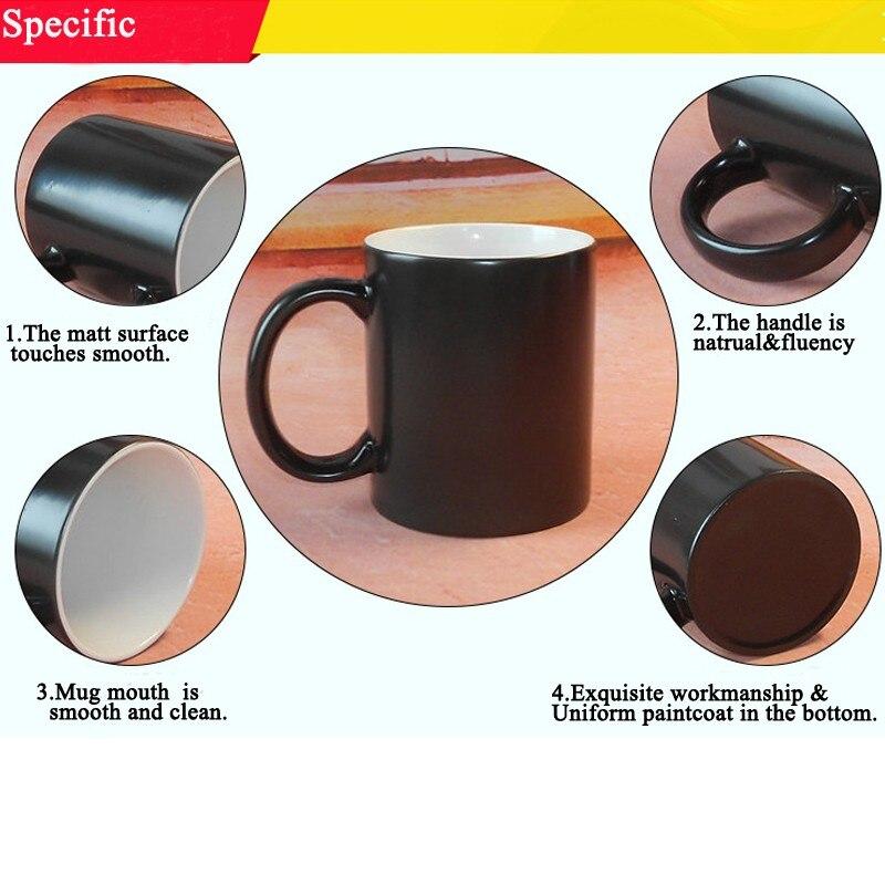 fun michael jackson pattern mugs magic color changing coffee mug customized tea milk cup gift idea 350ml