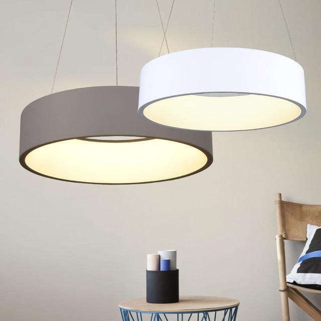 Ring LED Pendant Lamp Home Decor Acrylic Pendant Light Hanging Luminaire LED Ring Light for Dining Room