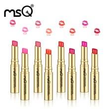 MSQ Moisture Lipstick Long Lasting Natural Waterproof Matte Makeup Lip Gloss Fashion Brand Women Lip Makeup Cosmetic