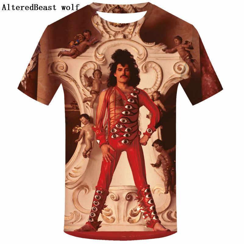 ... Band Rock Funny Queen Men Short Sleeve T Shirt Summer Casual Men s T  Shirts Queen Band ... cf116c3e76ba